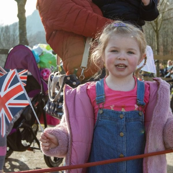 little girl at prince of wales event