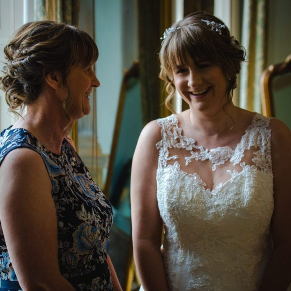 two ladies on wedding day